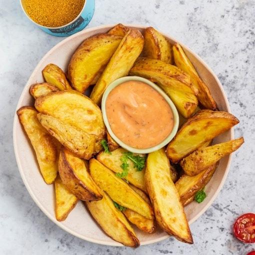 Patatas gajo con dip