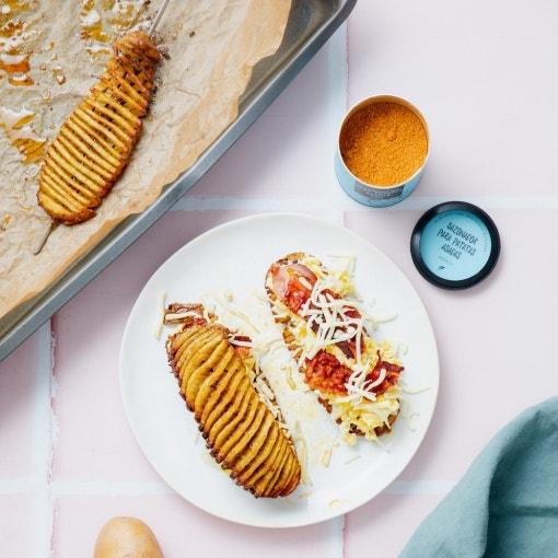 Sándwich de patata para el desayuno
