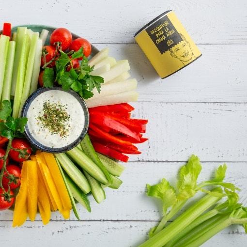 Crudité de verduras con dips