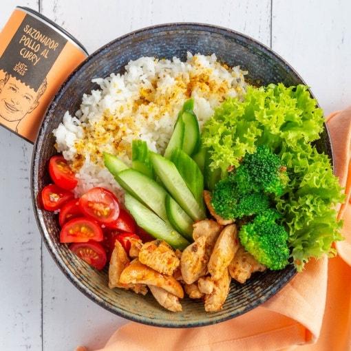 Bowl de arroz con pollo