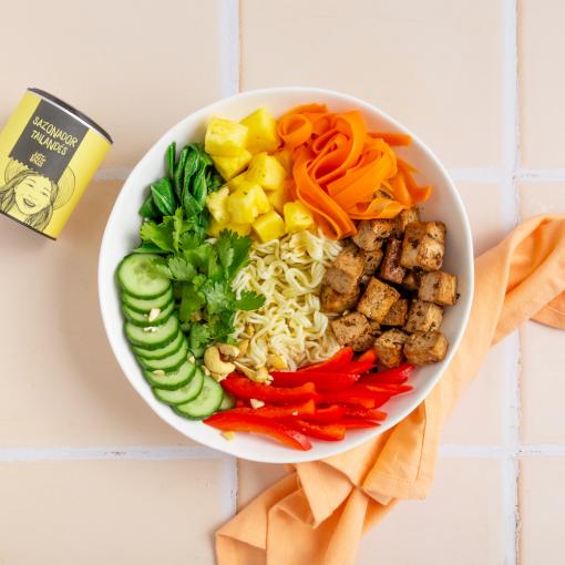 Bowl asiático con verduras