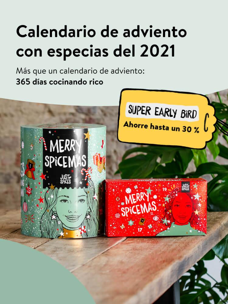 Calendario de adviento con especias del 2021